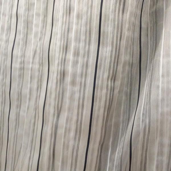Органза полоска черно-белая